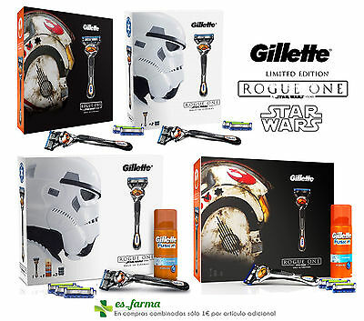 Gillette Pack Fusion Proglide Flexball Gel , Star Wars Maquinilla Recambios Set
