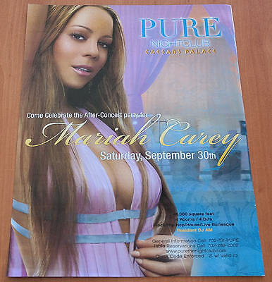 Mariah Carey After Concert Party Pure Las Vegas 2006 Promo Ad