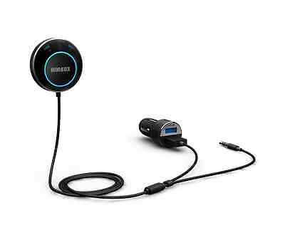 iClever Himbox HB01 Bluetooth 4.0 Hands-Free Car Kit for Cars with 3.5 mm Aux