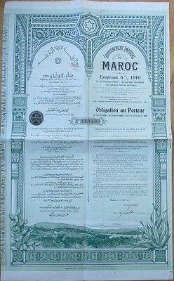 1910 Bond Certificate: Governement Impérial du Maroc/Marocco, Africa