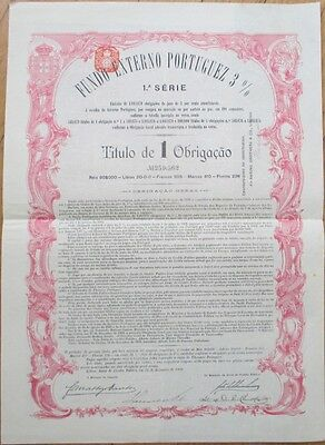 1902 Bond Certificate: Portugal External Fund/Fundo Externo Portuguez