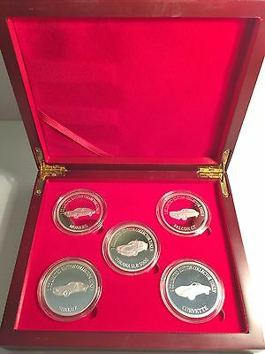2016 Boxed Set of 5 x 1oz  Muscle Car Series 1 Silver HSE E/tion LTD 1,000