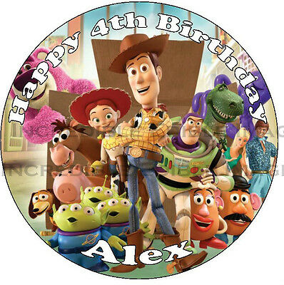 Toy Story Edible ICING Cake Topper Personalised Party Decoration • AUD 15.00