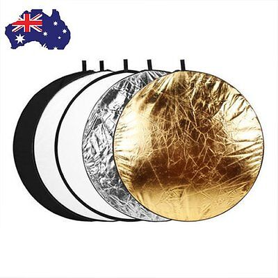 """AU Round 110cm 43"""" 5 in 1 Five in one Collapsible Circular Reflector Board Disc"""