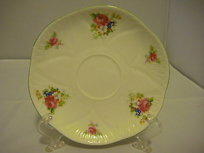 Shelley Dainty Shape Bone China Saucer Rose Pattern Made in England