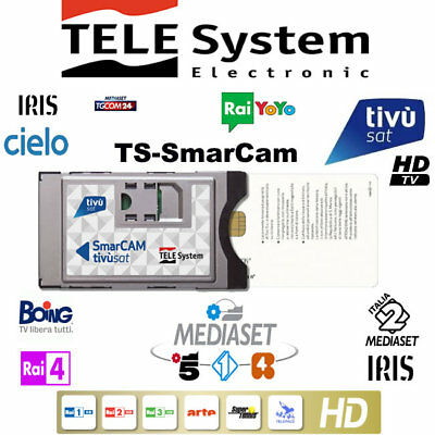 TivuSat Telesystem SmarCam HD and PRE – ACTIVATED Smartcard – Brand New