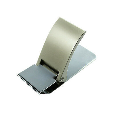 Wallet Slim Sided Stainless Steel Money Clip Card Credit Name Holder