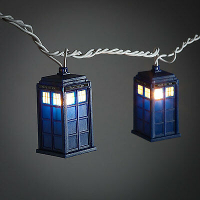 Officially Licensed Doctor Who TARDIS String Lights Christmas Lights NEW IN BOX