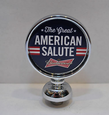 NEW Budweiser The Great American Salute Beer Tap Handle Top Wedge Cap Topper Ad