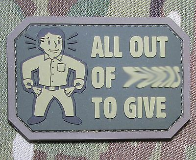 ALL OUT OF F's TO GIVE PVC US USA ARMY MORALE MILSPEC MULTICAM HOOK PATCH
