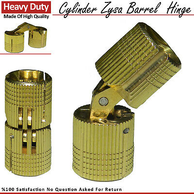 Solid Brass Cylinder Barrel Zysa Invisible Hinge for Caravan Worktops 180º New