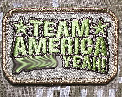 Team America Fxxx Yeah! Usa Army Morale Military Tactical Desert Hook Patch