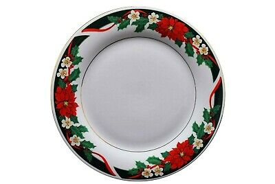 Tienshan Deck the Halls Holiday Christmas Poinsettia Dinner Plate(s)