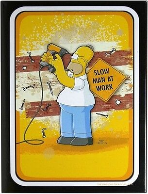 Simpsons Homer - Slow man at work Kühlschrank Magnet 6x8 cm Tin Sign 63