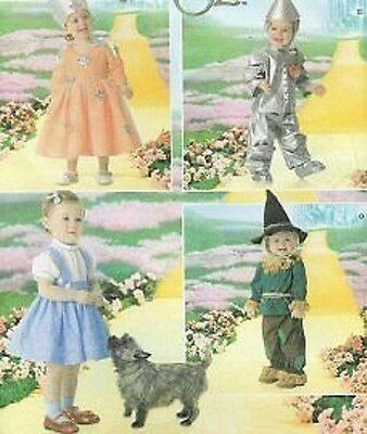 Wizard of OZ costume PATTERN Simplicity 4024 Baby Toddler Playpal Tinman Dorothy