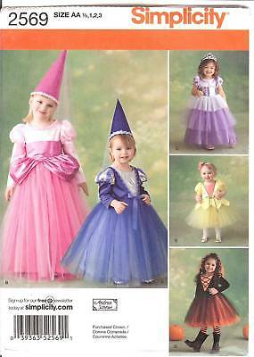 Princess Fairy costume PATTERN Simplicity 2569 Juliet fit Playpal sz 4 5 6 7 8