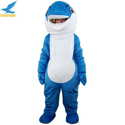 97ecf769 DOLPHIN ANIMAL MASCOT Costume Cosplay Fancy Dress Adult Size Suits EPE Head