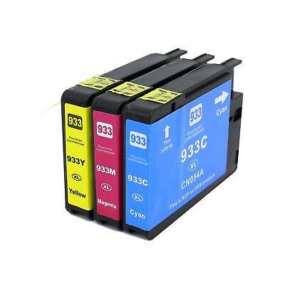 3PK 933XL Color Ink Cartridge For HP Officejet 6100 6700 6600 7610 7100 Printer