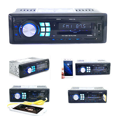 Handsfree Bluetooth Car Stereo In-Dash Audio MP3 Player USB FM AUX Receiver