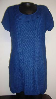 Thyme Maternity Cable Knit Short Sleeve Long Sweater/Tunic Size L NEW Retail $49