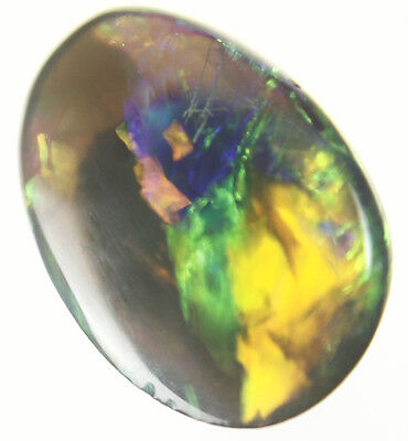 0.4ct ~ STUNNING FIERY RED GENUINE LIGHTNING RIDGE SOLID CRYSTAL OPAL GEM ~a224