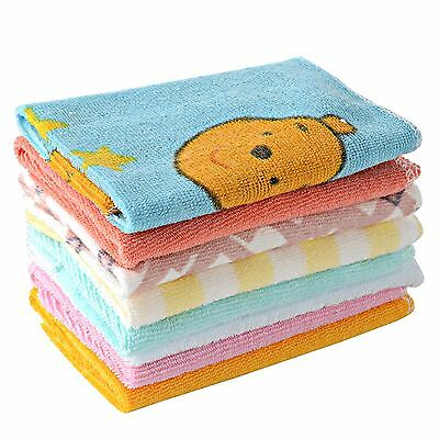 8pcs/Pack Baby Soft Cotton Infant Toddler Face Hand Wipe Blend Washcloth Towel