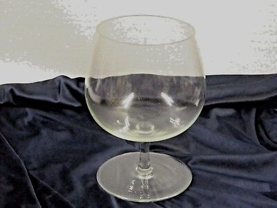 COLLECTORS RETRO circa 1970's VERY LARGE CLEAR BALLOON GLASS