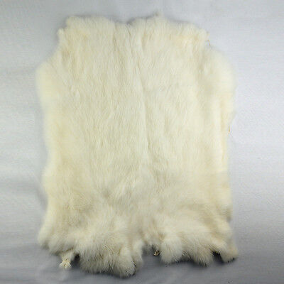 Magic show Genuine rabbit fur skin color naturally tanned for Crafts- white