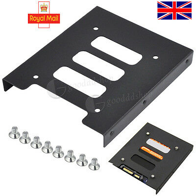 """PC 2.5"""" to 3.5"""" Metal SSD to HDD Mounting Adapter Bracket HardDrive Holder Black"""