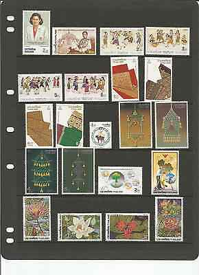 Mint 1991-93 Thailand Stamp Collection X 53 Stamps - 18 Sets And Singles Muh