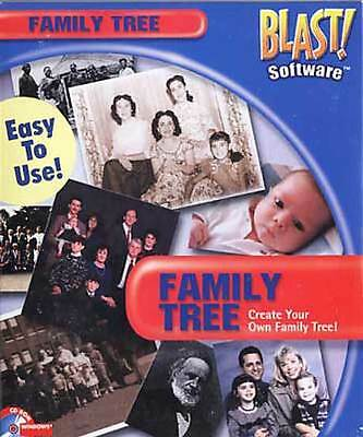 Family Tree Create Your Own Family Tree PC Software Windows 98 New