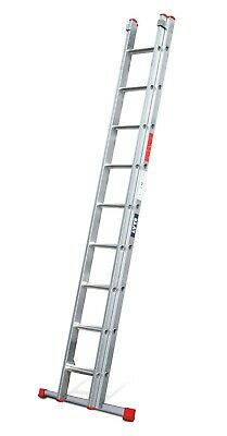 Lyte DIY Aluminium Extension Ladder - 2 Section| 9x2 Rung|Max 4.70m Height|BD230