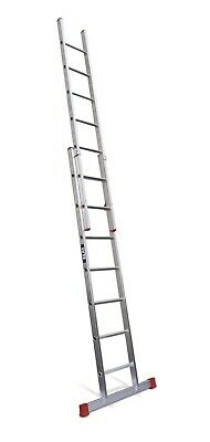 Lyte DIY Aluminium Extension Ladder - 2 Section| 7x2 Rung|Max 3.70m Height|BD225