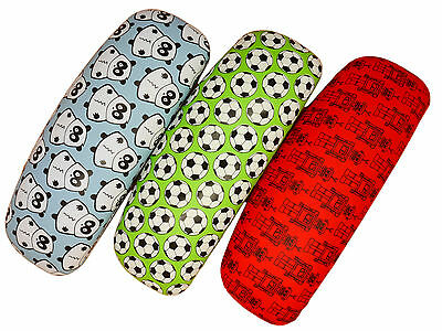 Childrens Hard Clamshell Toybox / Football Design Glasses Case For Spectacles