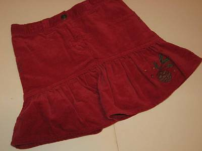 Gymboree Mountain Cabin Red Skort Embroidered Pinecone & Sequins Sz 7