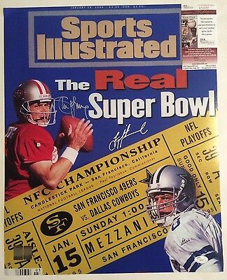 Troy Aikman&Steve Young Autographed 16x20 Sports Illustrated Cover Photo JSA COA