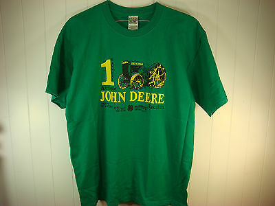 John Deere 1st Annual Antique Reunion Tee Shirt 2005 Hillsbough County NH VS18