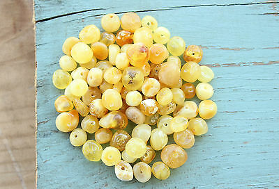 50 Pcs. Authentic Polished Baltic Amber Loose Beads 4 - 7 mm