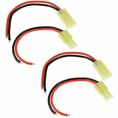 2 x RC Pairs Male + Female Tamiya Mini Battery Connector 18awg 10cm Wire