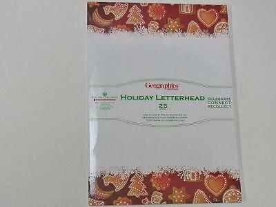 Geographics GeoPaper Holiday Letterhead Christmas Bisquits A4 Xmas paper 49205