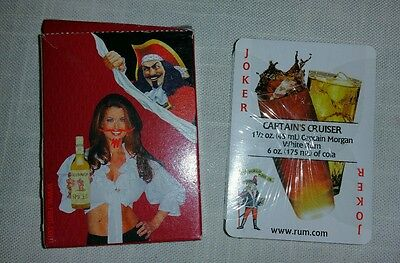 **NEW IN PACKAGE**Captain Morgan Spiced Rum Poker Sized Playing Cards