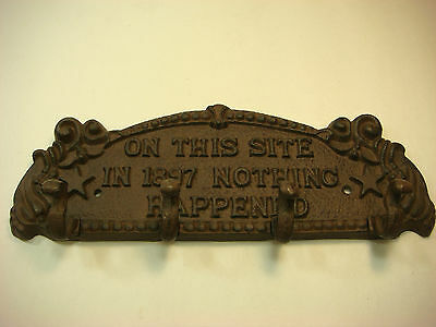 Reproduction Cast Iron Coat Hanger On This Site In 1897 Nothing Happened VS6