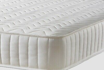 3FT SINGLE MEMORY FOAM QUILTED WHITE  with springs MATTRESS