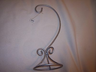"Pewter Ornament Arm Display,  Hanger  16"" Tall"