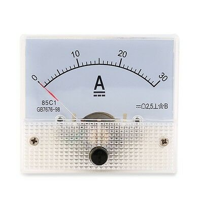 DC 30A Analog Ammeter Panel AMP Current Meter 0-30A DC Doesn't Need Shunt OK