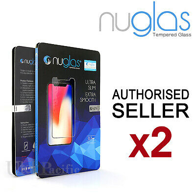 2x GENUINE NUGLAS Apple iPhone X / 8 / 7 Plus Tempered Glass Screen Protector