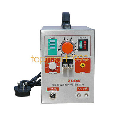 709A High Power 2 in 1 1.9KW Spot Welder W/ Soldering Iron Station  DC 220V