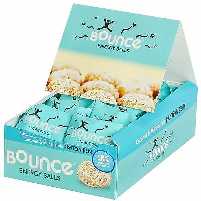 Bounce Coconut & Macadamia-Protein Bliss-Energy Balls 40g (Pack of 12)