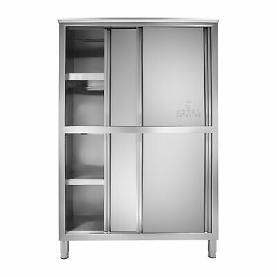 Stainless Steel Cabinet 120 Cm Kitchen Cupboard Storage Commercial Sliding Doors