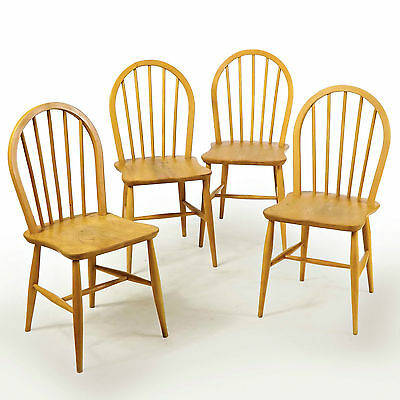 Dining Chairs, Set of 4 - Ercol, 1950s, Vintage, (Delivery available)